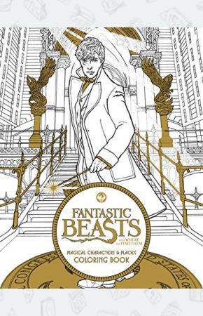 Книга-раскраска Fantastic Beasts and Where to Find Them: Magical Characters and Places Colouring Book (Out of print)