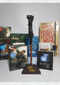 Палочка волшебника Гарри Поттера с книгой наклеек: загорается!