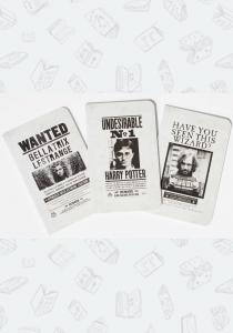 Набор блокнотов Harry Potter: Wanted Posters Pocket Notebook Collection